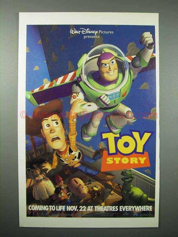 1996 Walt Disney Pixar Toy Story Movie Ad