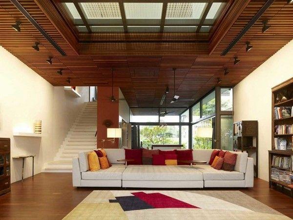 Wood Ceiling Designs Living Room Best 25 Wooden Ceiling Design Ideas On Pinterest  Asian Ceiling