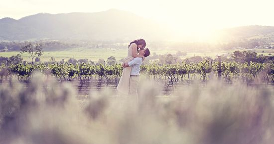 Loan and Kwa's Boonah Vineyard Engagement Photos