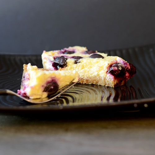 Lemon Cheesecake Blueberry Bars from Feed Your Soul Too