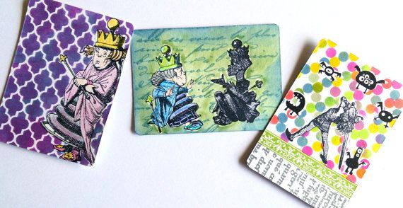 by MAKIstamps: Rubber stamp Alice dresses the Queens Hair / Alice by MAKIstamps