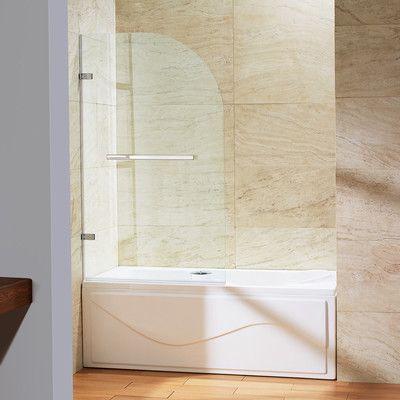 Vigo Orion Clear Curved Bathtub Door & Reviews   Wayfair
