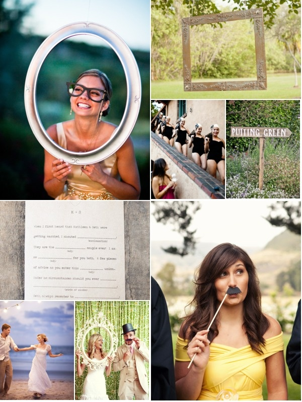 """Every wedding should have a little element of fun! Be it a photo booth, some unusual entertainment or a mad*lib starter ... what's your """"fun"""" going to be???"""