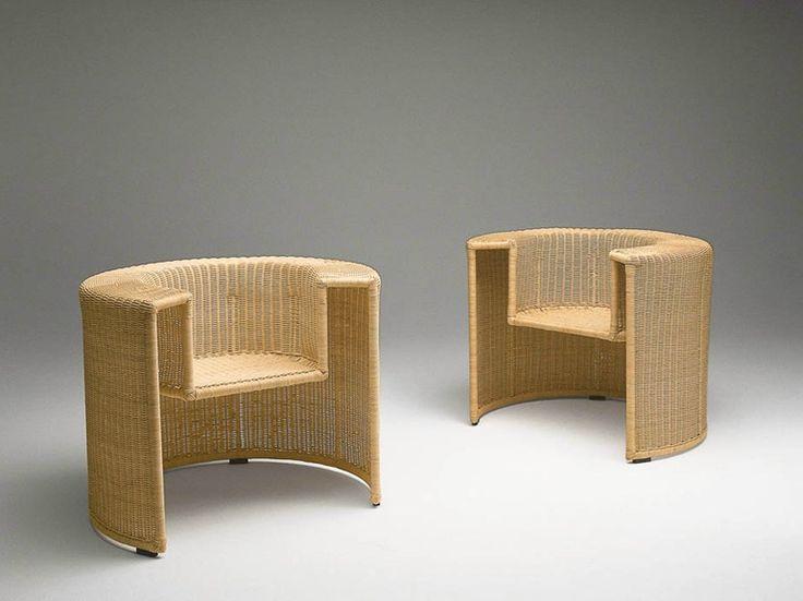 Cadeira lounge de vime CHARLOTTE by HORM.IT