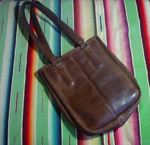 60s brown leather coach small - gorgeous thick and supple leather that the older…