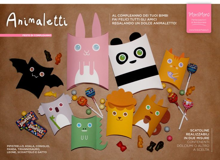 Animaletti: confezioni-regalo per le feste di compleanno dei vostri bimbi! Little Animals: party favors for your kids' birthday!