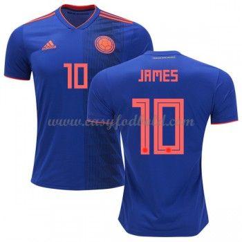 Fodboldtrøjer VM 2018 Colombia James Rodriguez 10 Udebanetrøjer ... 0a043abc5