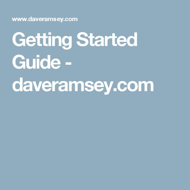 Getting Started Guide - daveramsey.com
