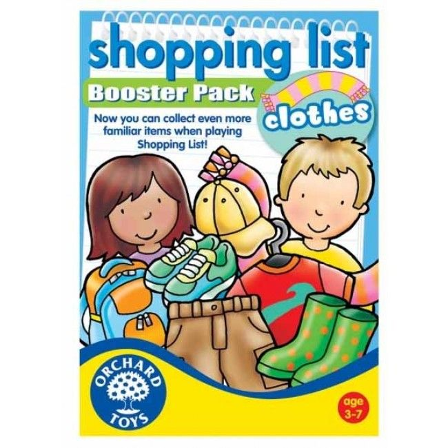 #Entropywishlist #pintowin One of our favourite games. We can use a booster pack! Orchard Toys - Shopping List Booster Pack Clothing