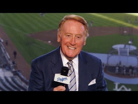 "Vin Scully It's Time for Dodger Baseball!""   Love this man. He makes Dodger Baseball so entertaining. Very happy he's continuing for another year."