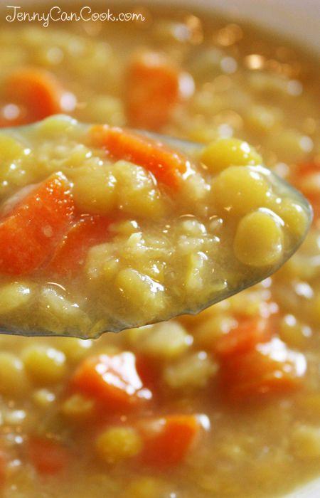 French Canadian Pea Soup recipe from Jenny Jones (JennyCanCook.com) #peasoup #soup #jennyjones