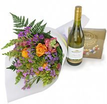 Spoil Her with #wine, #chocolate and #flowers from http://www.flyingflowers.co.nz/spoil-her