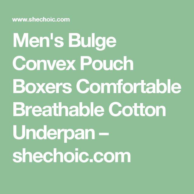 Men's Bulge Convex Pouch Boxers Comfortable Breathable Cotton Underpan – shechoic.com