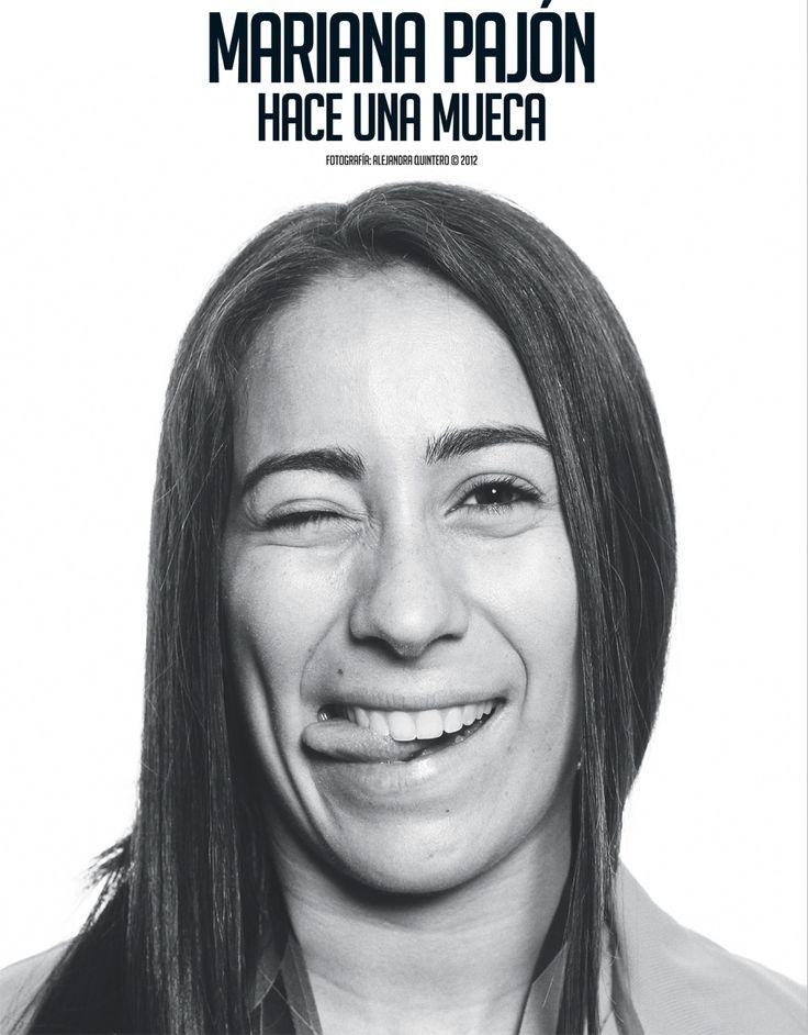 Mariana Pajón hace una mueca