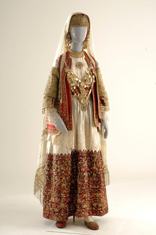 Of the various forms of Greek folk and popular arts, the category of attire presents the most regional differentiation. Traditional Greek costume was self-contained social entity that operated on multiple sociological levels (practical, aesthetic, signifying, symbolic) and could communicate the individual's socioeconomic standing, along with age and marital status...