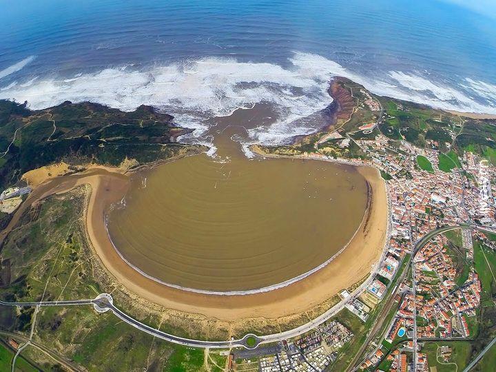 Plaża de são martinho do porto, Portugalia