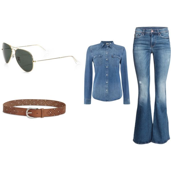 A fashion look from September 2015 by marenrygh featuring Levi's, H&M, Ray-Ban and Lucky Brand