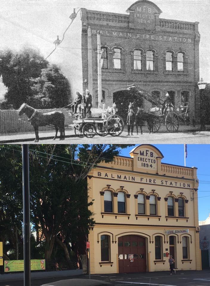 Balmain Fire Station, Darling Street 1910 > 2017. [Leichhardt Council > Phil Harvey. By Phil Harvey]