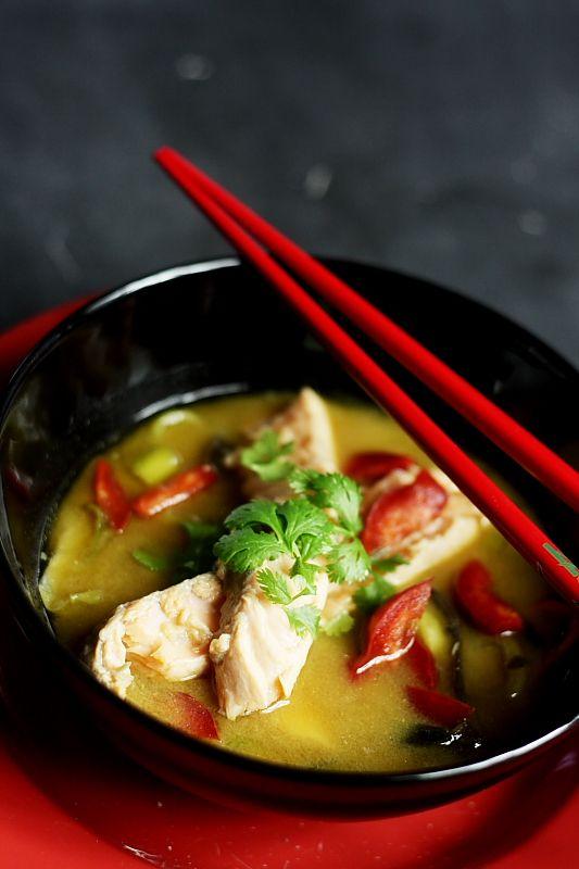 Salmon miso/ Miso z lososiem