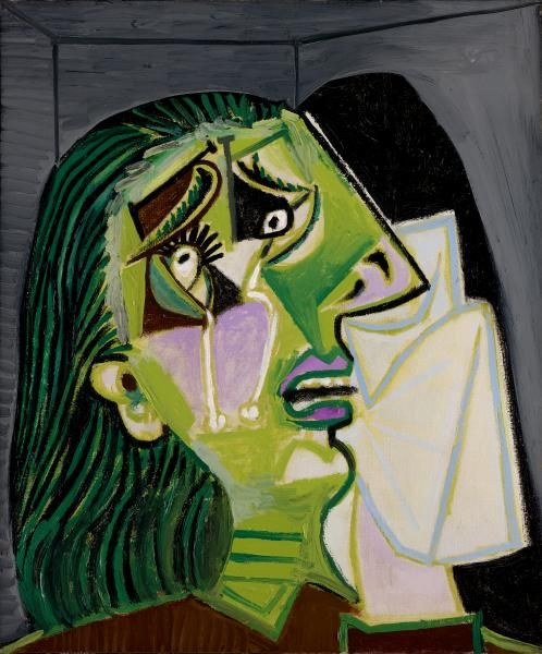 Weeping Woman / Pablo Picasso / 1937 / oil on canvas / National Gallery Victoria
