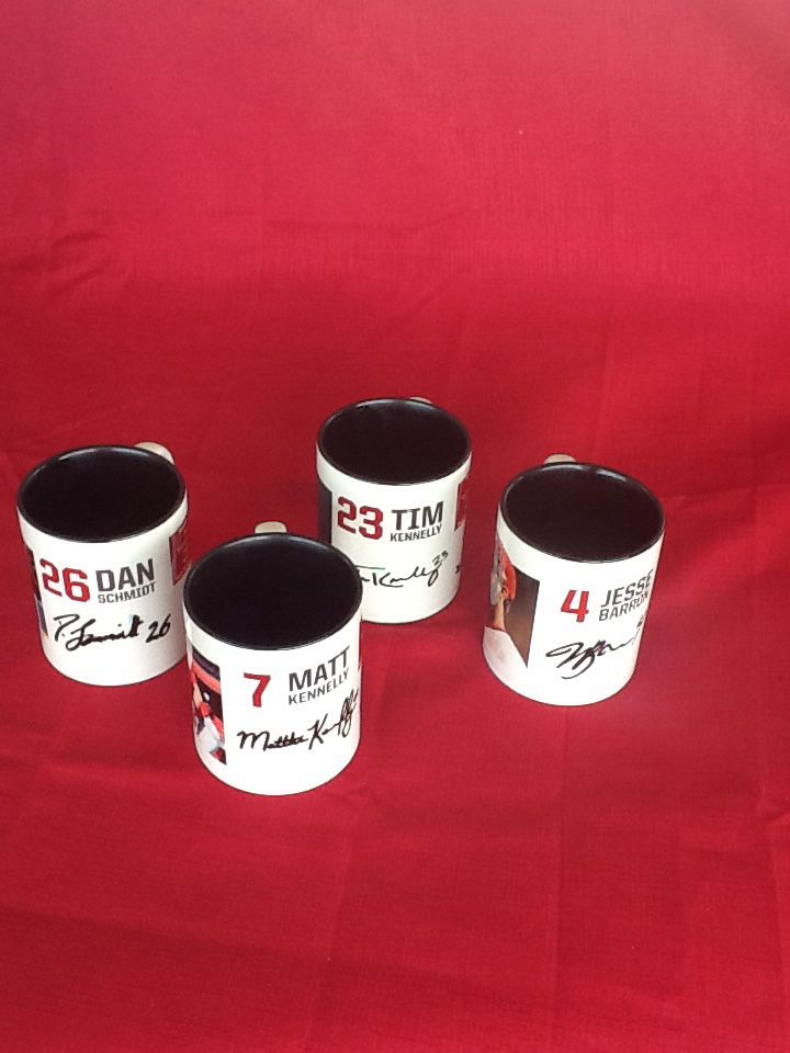 2014/15 Perth Heat Collector Mugs Complete Set Featuring: Dan Scmidt Matt Kennelly Tim Kennelly Jesse Barron $50 Can be purchased on game day or contact us at 08 6336 7950 or perthheatmerch@gmail.com