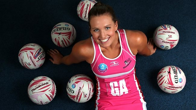 Laid back, but not lazy! New Adelaide Thunderbirds recruit Laura Packard.