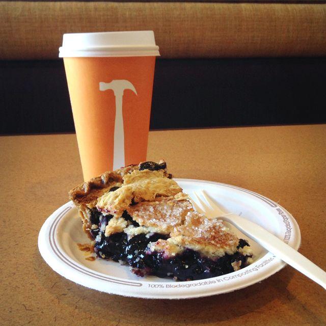 Nothing like a slice of #pie and a #hot #coffee! #uwyo #uwyodining #Laramie #Wyoming #college #university