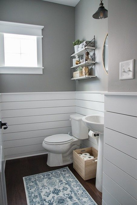 Check Out This Beautiful Powder Room Reveal This Tiny Bathroom Was Transformed From Boring To