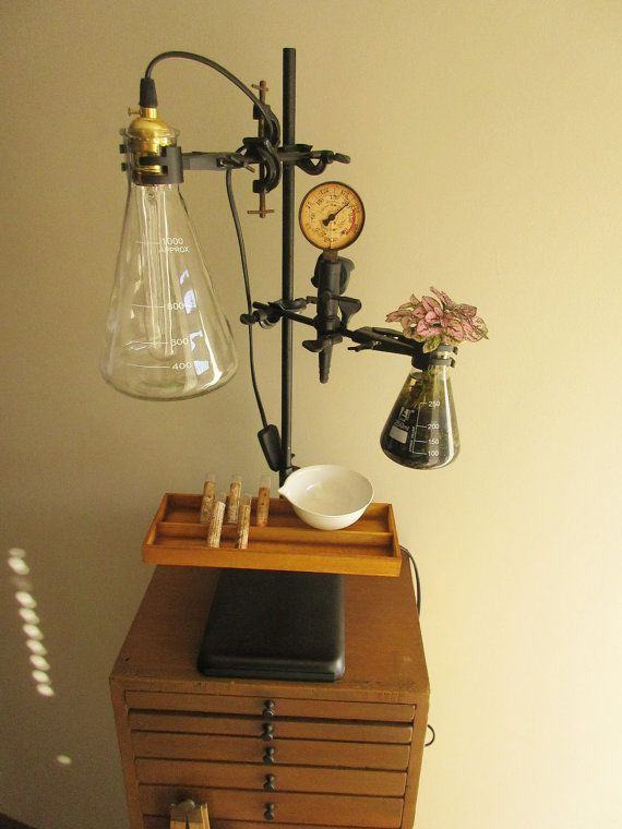 Science / Steampunk / Laboratory Lamp to add a wow by quimika