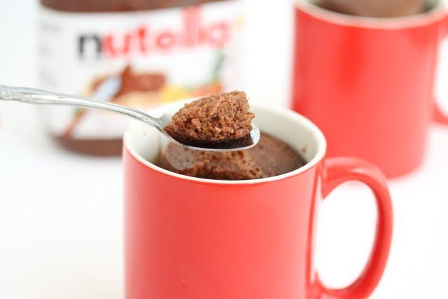 Pure Nutella Mug Cake. I've been craving mug cake, but have been without flour. Today I finally purchased some, so: Tonight! We FEAST!
