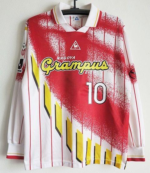 名古屋グランパス 1995-96AWAYカップ戦 長袖ユニフォーム#10ストイコビッチ Lサイズ_画像1