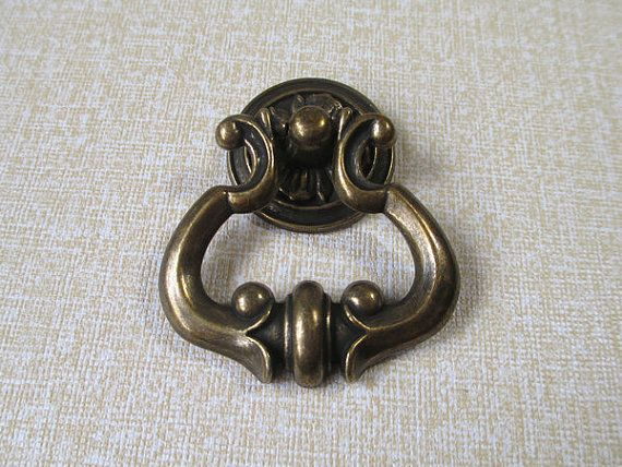 brass drop dresser drawer pulls knobs handles ring antique bronze cabinet knobs handle pull knob