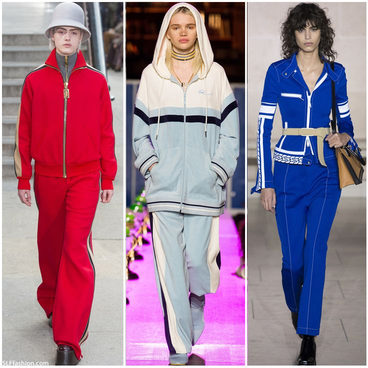 Fashion Trend for FW17: Retro 1980's style Sportive tracksuits.  Marc Jacobs, Fenty x Puma, and Louis Vuitton Fall Winter 2017.  AW17 Fashion Trend