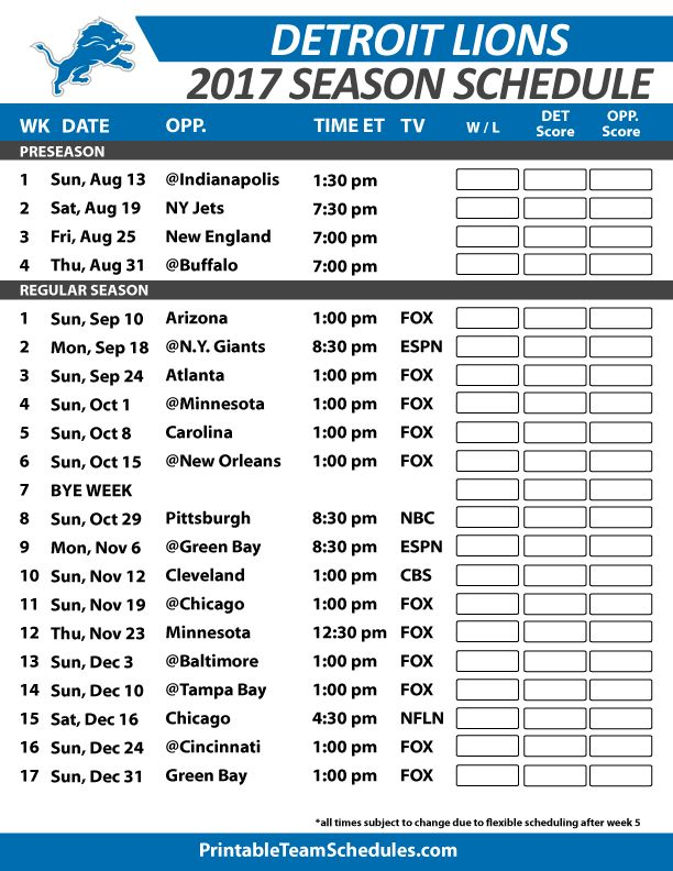 Mesmerizing image pertaining to detroit lions printable schedule