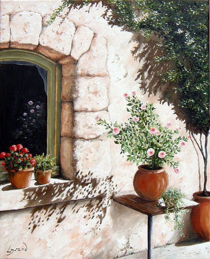"""Reproduction sur toile """"Le rosier""""  Site: http://www.lysandcreations.com/boutique/liste_rayons.cfm?"""
