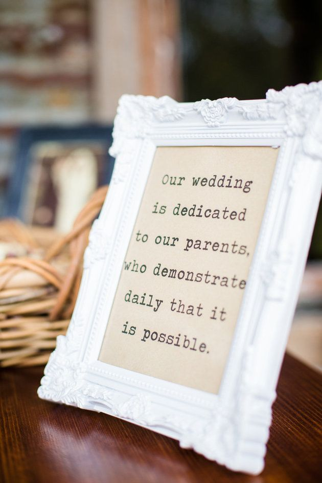 Have a sign dedicated to your parents' love at your wedding | Bonavita Photography