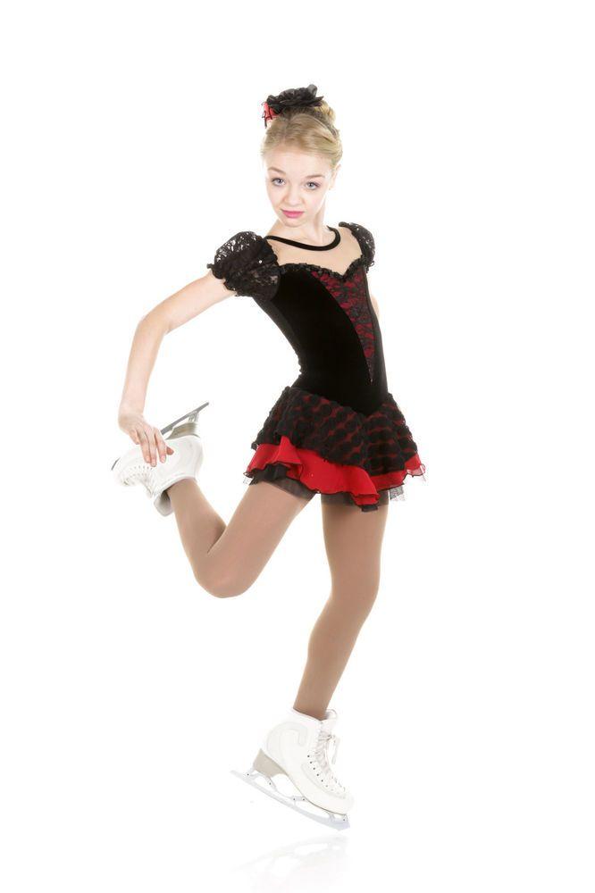 New Elite Xpression Figure Skating Dress D278-BK Made on Order