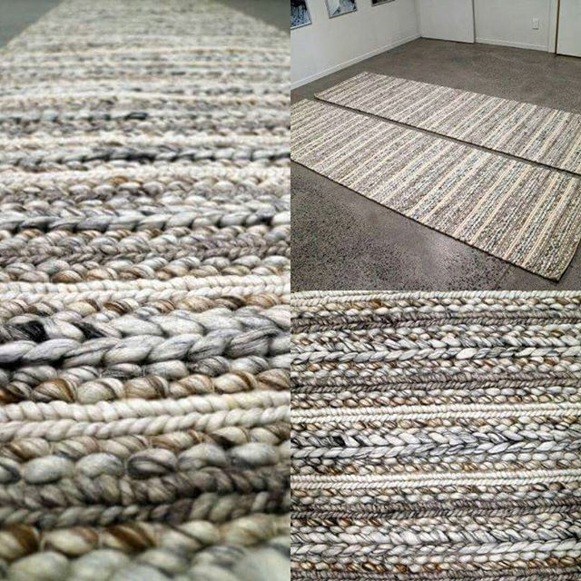 "Our ""Oneroa"" rugs are a favourite, especially during winter – they add wonderful texture and warmth to an interior. This custom made Oneroa runner will be delivered overseas to an American home. Bon voyage! #oneroa #rugpile #textured #coastalcollection"