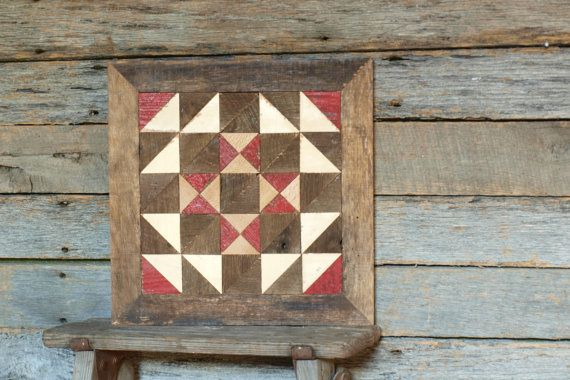 Wooden Quilt Block Salvaged Barnboards Quilt Primitive