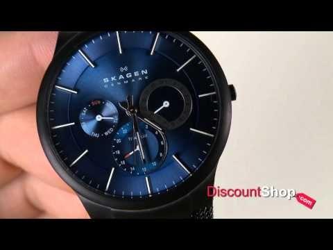 Skagen Titanium Black & Blue Multifunction 809XLTBN - review by DiscountShop