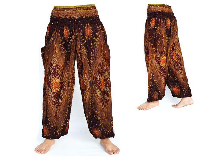 Pantaloni cavallo basso - Pantaloni harem - un prodotto unico di Siamrose su DaWanda