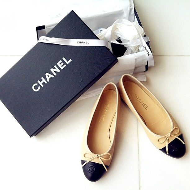 I have shoes just like these but they're not Chanel...  :-)