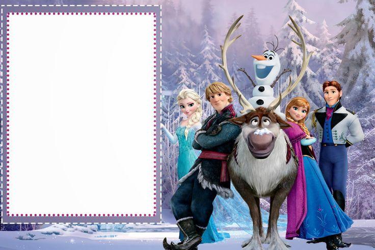 Frozen: Tarjetas o Invitaciones para Imprimir Gratis. | Ideas y ...