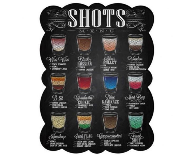 Para aquele amigo-secreto metido a bartender, a placa de metal é um guia ilustrado para a preparação dos mais variados drinks. Tem 33 x 25 cm de tamanho e custa R$ 45 na Pop Decor.