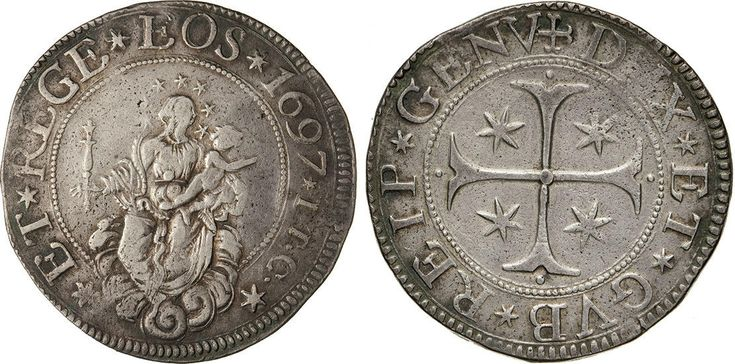 NumisBids: Numismatica Varesi s.a.s. Auction 65, Lot 379 : GENOVA - DOGI BIENNALI, III fase (1637-1797) Scudo 1697, sigle ITC....