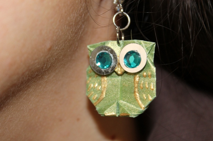origami owl earrings (no instructions)