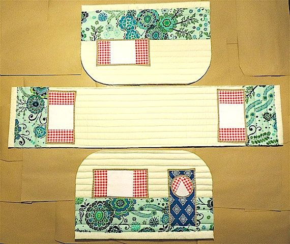 Vintage Caravan Sewing Machine Cover Pattern by RainbowHare