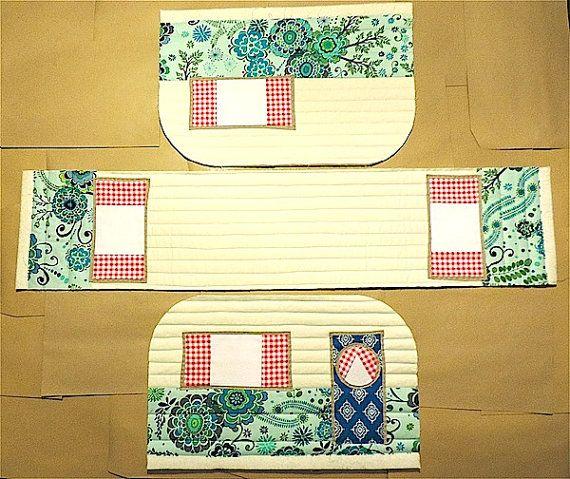 Patrón de tapa de máquina de coser caravana vintage por RainbowHare