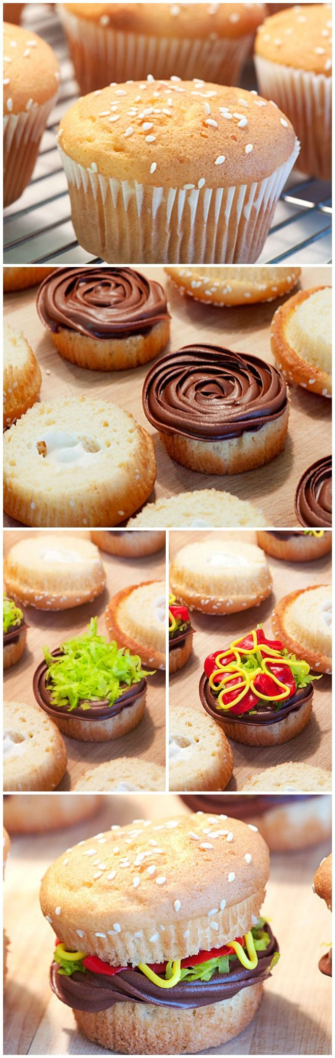 "Juicy Lucy"" Burger Cupcakes #MemorialDay: Chocolate Cupcakes ..."