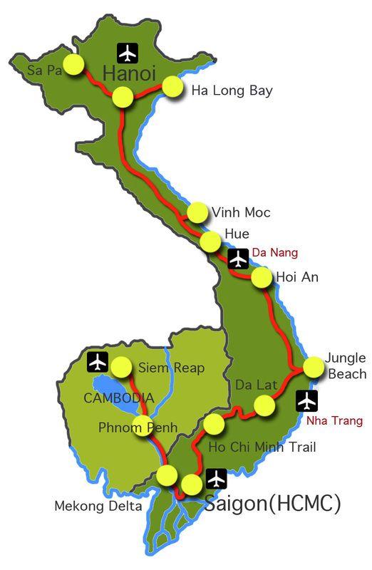Vietnam principales villes tourstiques                                                                                                                                                                                 Más